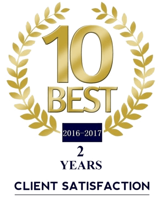 2 Years - 10 Best Law Firm for Client Satisfaction
